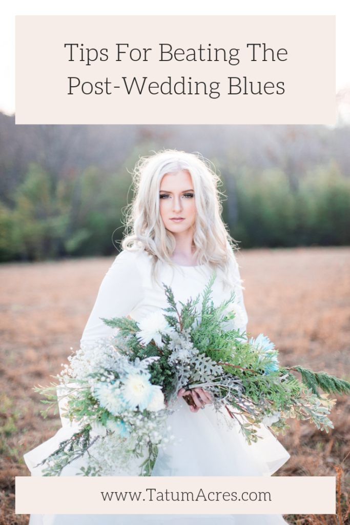 You've been planning for and looking forward to your wedding day for so long, that sometimes when it's over (while you're thrilled to finally be married), you can miss the planning process and having something so exciting to look forward to. We're sharing our top tips for beating the post-wedding blues! #tatumacres #aftertheido #postweddingblues #postweddingplanningvoid